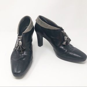 Brighton Black Stacey Ankle Booties
